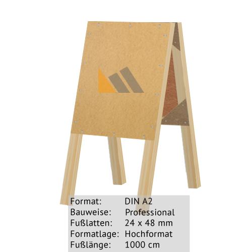 Holz-Dachständer zum Bekleben mit Plakaten DIN A2 24 x 48 mm günstig online kaufen bei McPoster.com