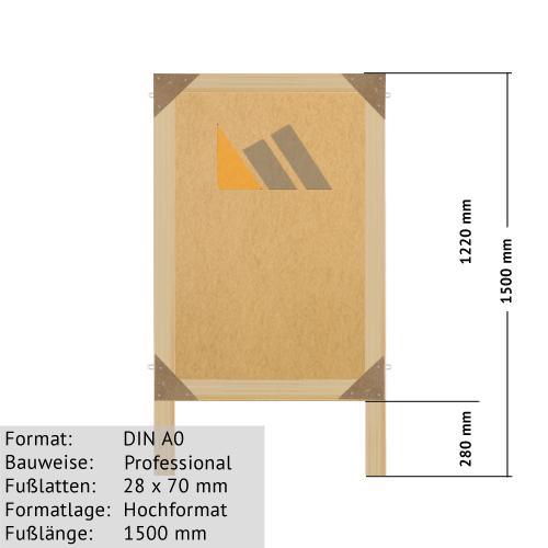 Holz-Plakatständer Lagerware
