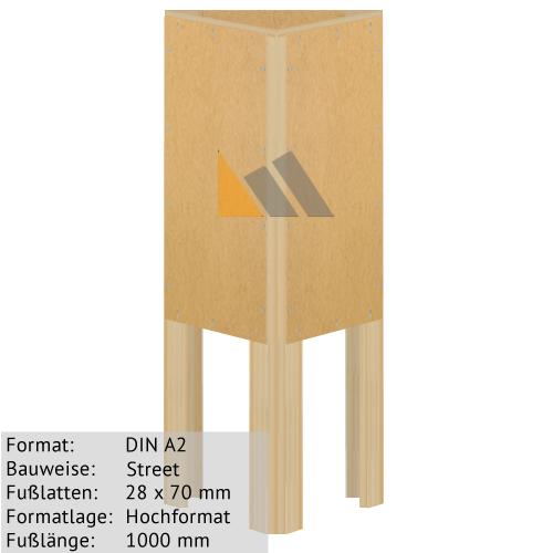 Holz-Dreieckständer zum Bekleben mit Plakaten DIN A2 28 x 70 mm günstig online kaufen bei McPoster.com