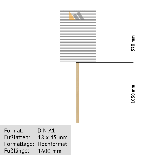 Hohlkammer-Transparente DIN A1 18 x 45 mm günstig online kaufen bei McPoster.com