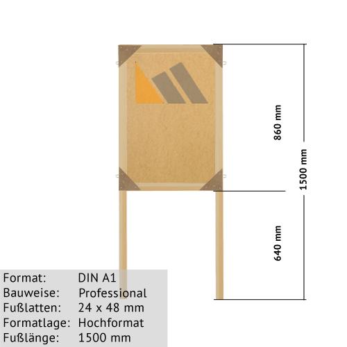 DIN A1 Holz-Plakatständer zum Bekleben mit Plakaten günstig online kaufen bei McPoster.com