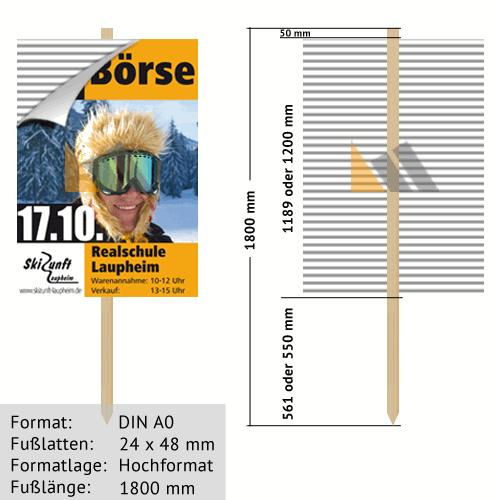 Hohlkammer-Wiesenstecker DIN A0 24 x 48 mm günstig online kaufen bei McPoster.com