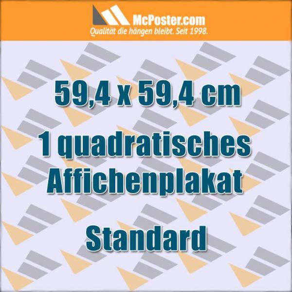 Quadratische Affichenplakate 59,4 x 59,4 cm günstig online kaufen bei McPoster.com
